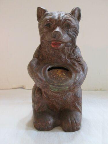 Antique Cast Iron Bear Bank