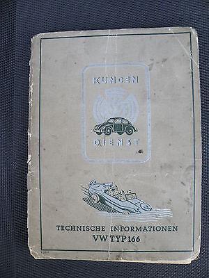 Beschreibung/Bedienungsanweisung von 1943 für VW-Schwimmwagen Typ 166