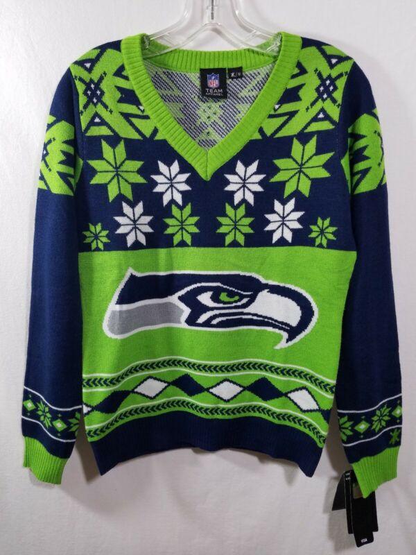 NFL Womens Seattle Seahawks Holiday Sweater Size Medium NWT