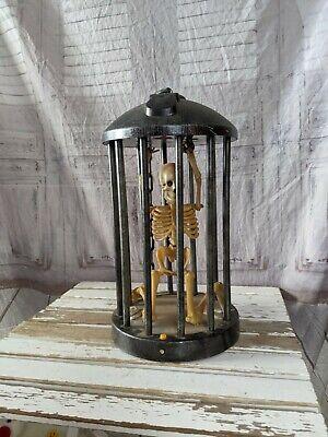 Gemmy skeleton prisoner Halloween large prop lights animation sound