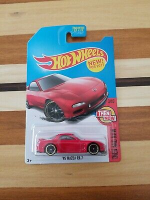 Hot Wheels  2017 Then and Now '95 Mazda RX-7 new htf Kmart exclusive red