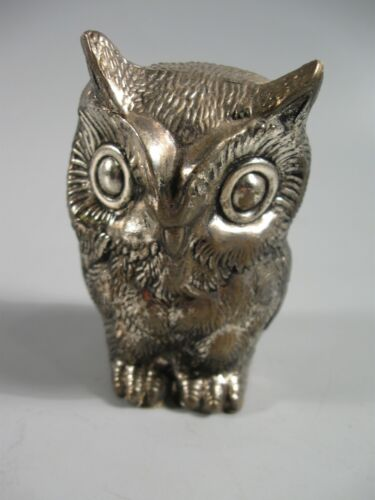 Metal Owl Figurine Silverplate?