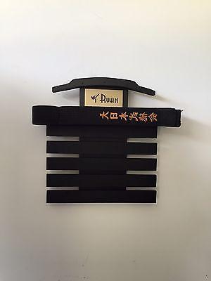 Martial Art Belt Display  Rack karate tae kwon do holder 8 Lev