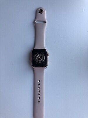 Apple Watch Series 3 38mm RoseGold Aluminium Case with Pink Sport Band (GPS)