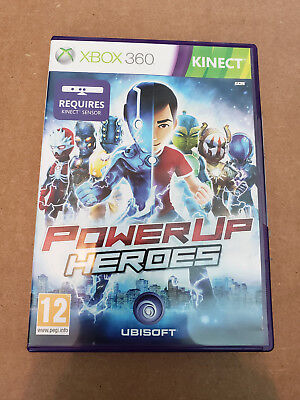 PowerUp Heroes Xbox 360 Kinect UK PAL Power Up for sale  Shipping to India