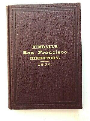 1800's Reprint of 1850 San Francisco Directory