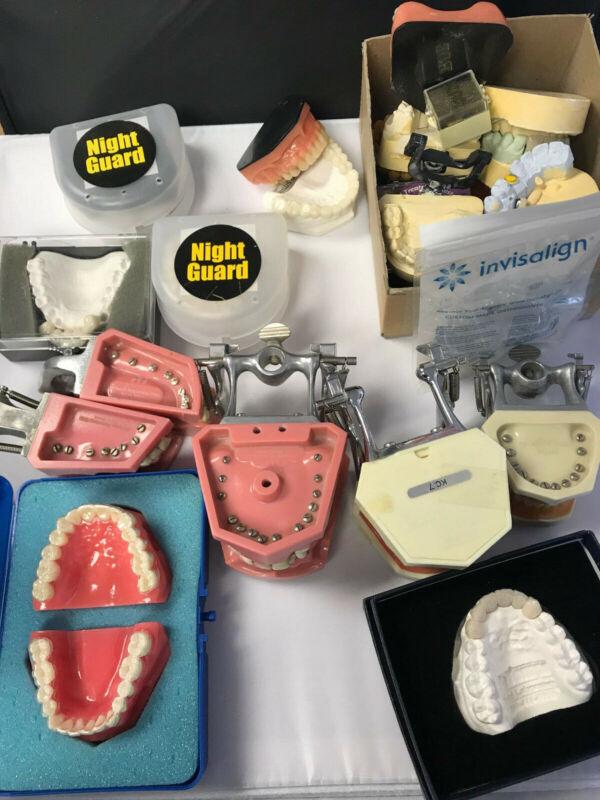 Lot of Dental Articulators and Demonstration Models