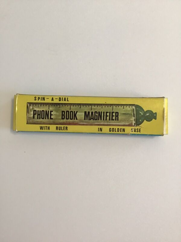 Vintage Phone Book Magnifier With Ruler In Case 3820