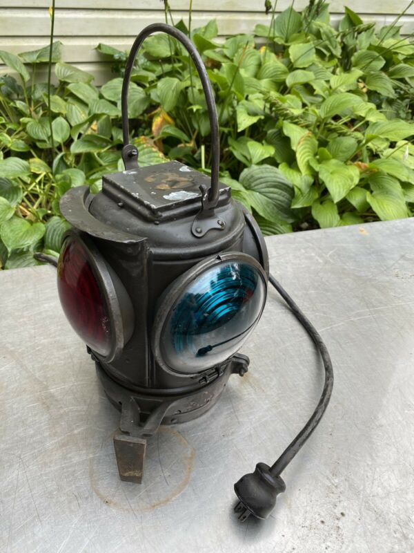 Rare R.r. Railroad Adams & WestLake Co. 4 way signal Lantern light Lamp