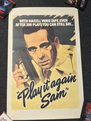 VINTAGE ORIGINAL 1983 MAXWELL VHS CASSETTE TAPE PROMO ADVERTISEMENT POSTER