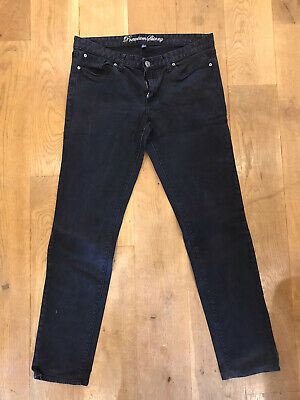 GAP Black Denim Premium Skinny Jeans UK Size 16 Regular