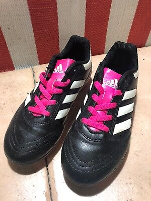 f40eb2176 Adidas Soccer Cleats Black White Pink Shoes 753002 Children s Kids 13K