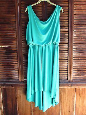 Valerie Bertinelli Emerald Green Womens Hi Low Dress 8 Pullover Teal Blouson