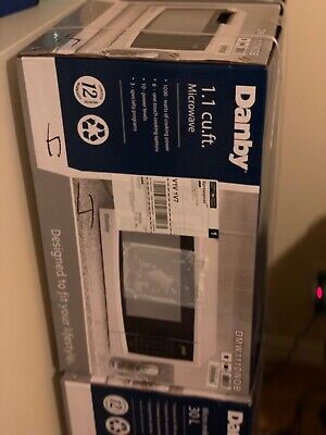 Danby 1.1 Cu-Ft. Countertop Microwave, White (New)