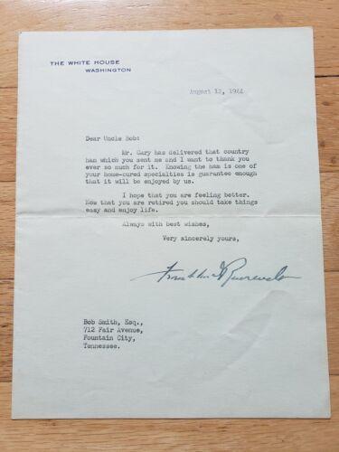 President Franklin D. Roosevelt hand signed 1944 Official White House Letter