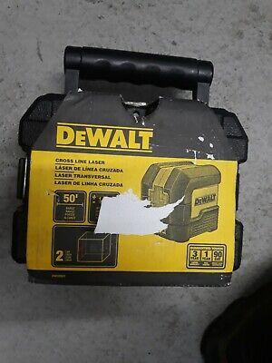 Dewalt Dw08801 50 Ft. Cross Line Laser Level. Red Laser With Case
