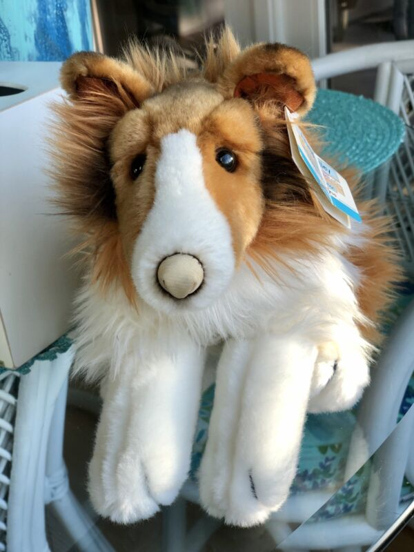 Animal Alley Toys R Us Collie Dog Plush Stuffed Animal New