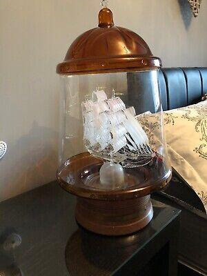 Flying Cloud Tea Clipper Table Lamp Mystiques Lymington Glass Ship in a Bottle