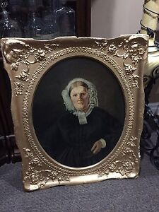 Fabulous antique picture frame with oil painting
