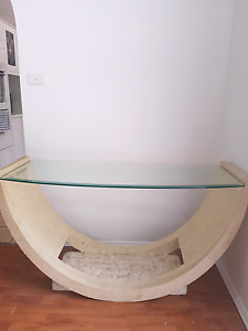 Gorgeous Stone inspired custom hall/ entrance table Glen Alpine Campbelltown Area Preview