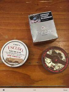 3 tobacco tins, including escort flip lid Noarlunga Downs Morphett Vale Area Preview