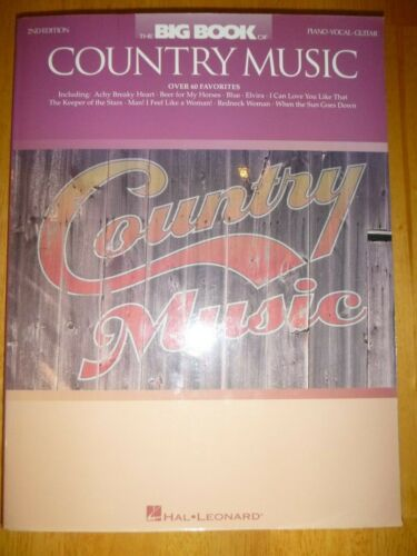 Piano/Vocal/Guitar Songbook: BIG BOOK OF COUNTRY MUSIC   << New Old Stock >>