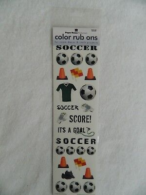 Paper House Productions 3D Color Rub Ons - SOCCER Paper House Rub