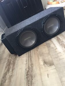 Kenwood Subwoofers + Amp