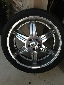 "22"" MOZ Rims and Tires"