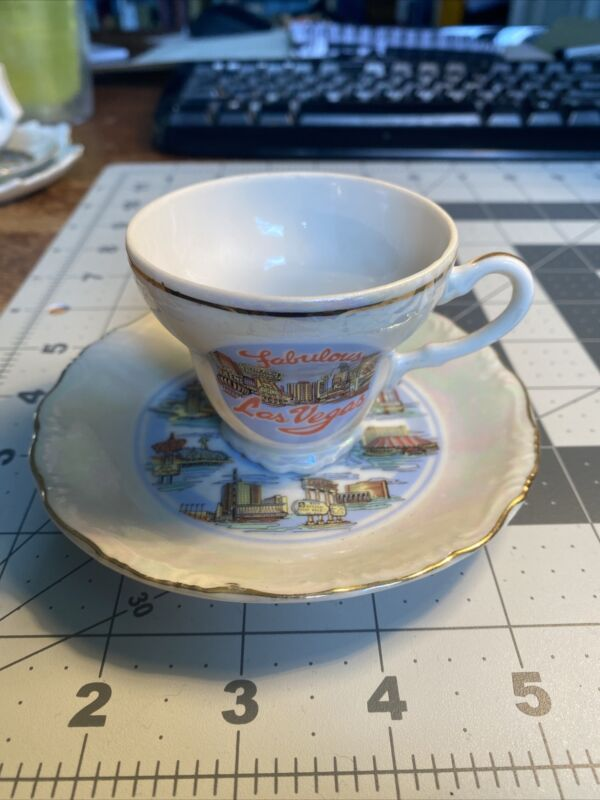 Fabulous Las Vegas  Souvenir Mini Tea Cup & Saucer 3-441D
