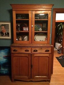 Rustic china cabinet