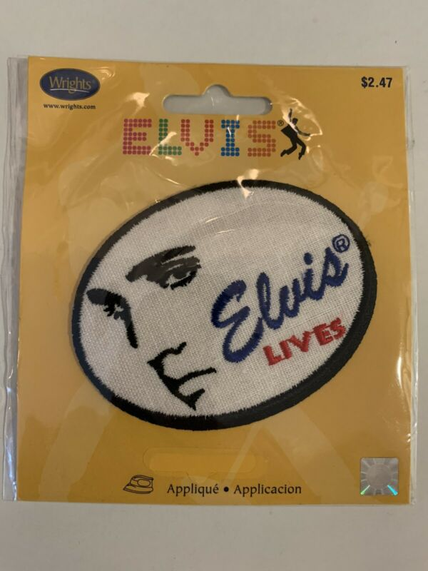 Wrights Elvis Lives Iron-on Patch-Presley/The King/James Burton/TCB/Graceland!!!