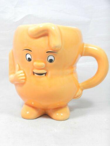 Actos Pharmaceuticals Promotion Ceramic Orange Stomach Mug Anthropomorphic Smile