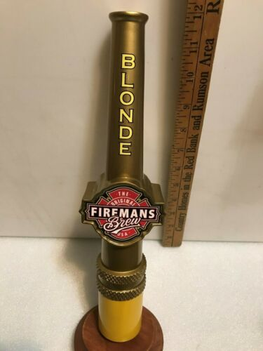 FIREMANS BREW BLONDE ALE beer tap handle. CALIFORNIA