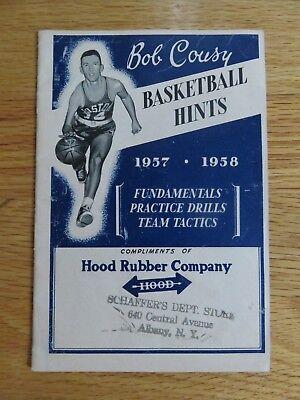 BOB COUSY 1957 FUNDAMENTAL PRACTICE DRILLS Team Tactics Booklet BOSTON CELTICS -