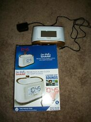 PROJECTION ALARM CLOCK W NATURE SOUNDS... BY SHARP ....BOXED /    NEW !!