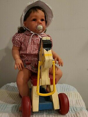 """BIG CUTE CHEAP 26 """"Reborn Toddler Girl doll  """"ELORA"""" BY JANNIE DE LANGE~NEW for sale  Shipping to Canada"""