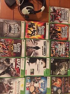 Xbox 360 games and Turtle Beach Headset