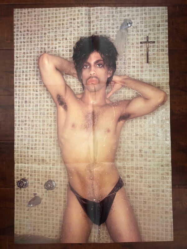 Prince 1981 Controversy Shower Music Promo Poster 23x33