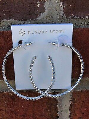 NWT Kendra Scott Birdie Hoop Earrings in Ivory Pearl/Silver