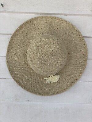 Nine West Packable UPF 50+ Tassel Accented Floppy Sun Hat New NWT Beach Garden