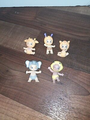 Lot Twozies baby and animals figures moose