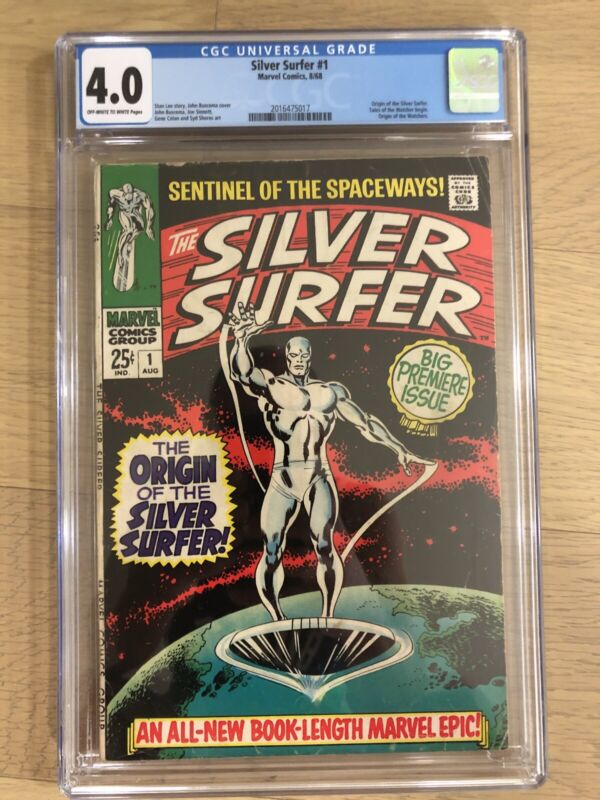 Silver Surfer #1 (1968) CGC 4.0 Origin of the Watchers!!! Key Issue!
