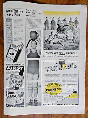 1942 Pennzoil Oil Ad I Said I wanted Him SHOD Mistakes Will Happen