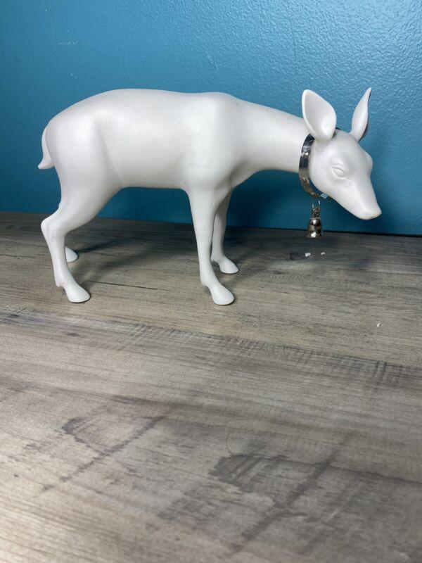 Dept 56 Winter Silhouette Snowy White Reindeer Deer. Single Deer From A Set