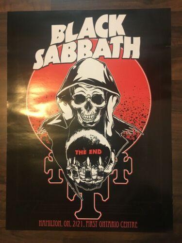 BLACK SABBATH EVENT POSTER HAMILTON