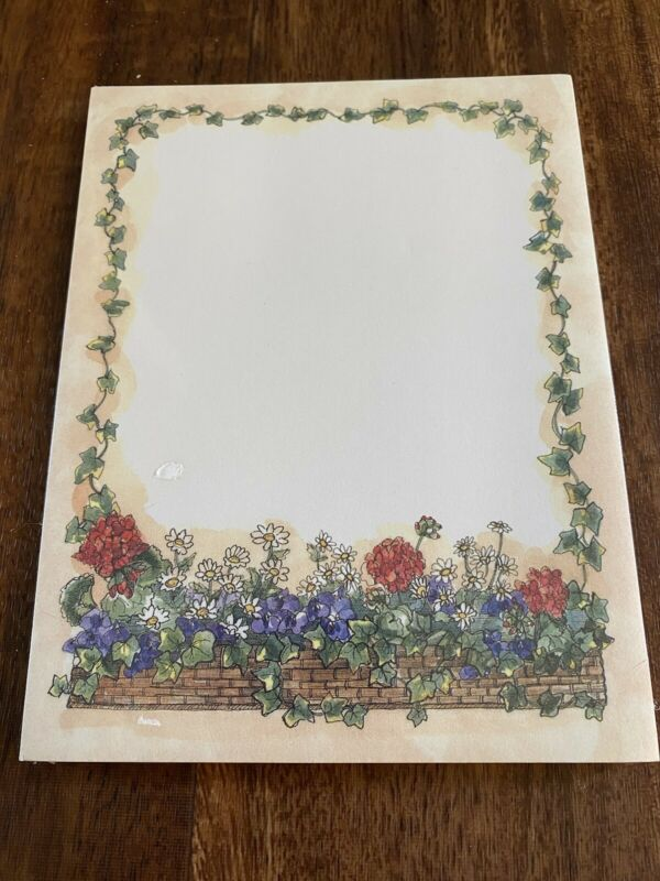 Lang Main Street Press Sherri Buck Baldwin Note Pad Paper Vintage Notepad Floral