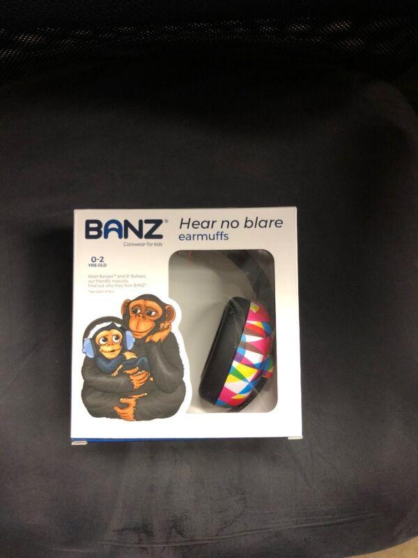 Baby Banz mini Earmuffs Hearing Protection 0-2 Geo Print