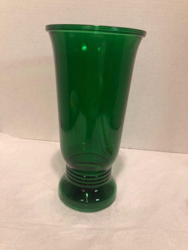 Vintage Depression Glass Emerald Green Vase