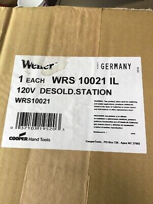 New In Box Weller Wrs 1002 10021 Solder Desolder Repair Station